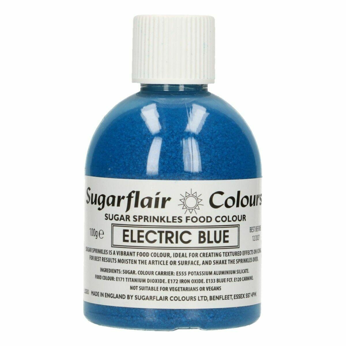 Sugarflair -Sparkling Sugar Sprinkles -ELECTRIC BLUE 100g ΖΑΧΑΡΗ -