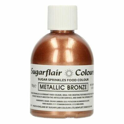 By Sugarflair -Sparkling Sugar Sprinkles -METALLIC BRONZE 100g ΖΑΧΑΡΗ