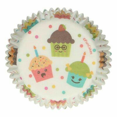 FunCakes Cupcake Cases -CUPCAKE PARTY -Θήκες Ψησίματος -48 τεμ