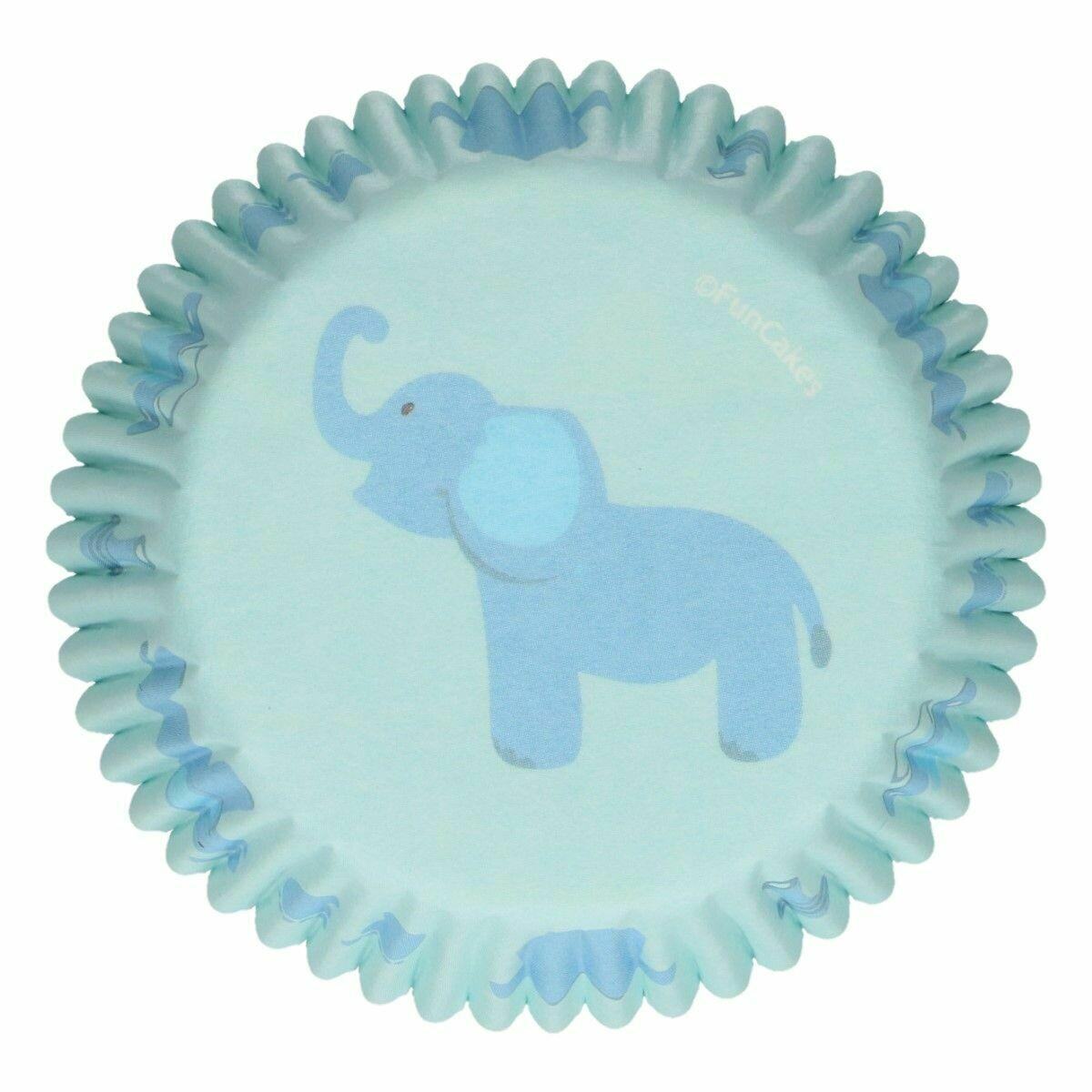 FunCakes Cupcake Cases -BABY ΒΟΥ -Θήκες Ψησίματος -Αγορίστικο Σχέδιο -48 τεμ