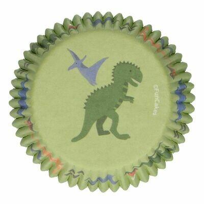 FunCakes Cupcake Cases -DINO -Θήκες Ψησίματος -Δεινόσαυρος -48 τεμ