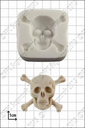 FPC Silicone Mould -SKULL & CROSSBONES -Καλούπι Νεκροκεφαλή με Κόκκαλα