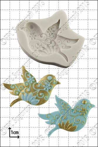 FPC Silicone Mould -FLORAL BIRD -Καλούπι Λουλουδένιο Πουλάκι