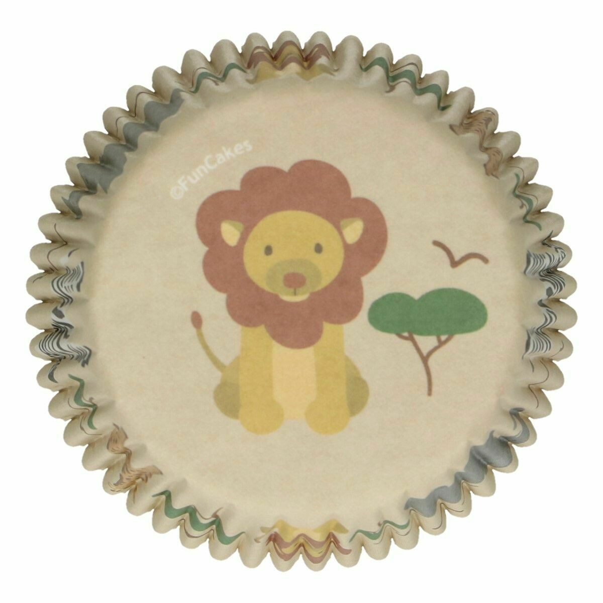 FunCakes Cupcake Cases -SAFARI ANIMALS -Θήκες Ψησίματος 48 τεμ - Θέμα Σαφάρι