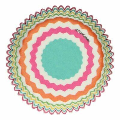 FunCakes Cupcake Cases -COLOURFUL CHEVRON -Θήκες Ψησίματος 48 τεμ