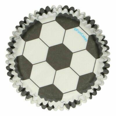 FunCakes Cupcake Cases -SOCCER/FOOTBALL -Θήκες Ψησίματος 48 τεμ