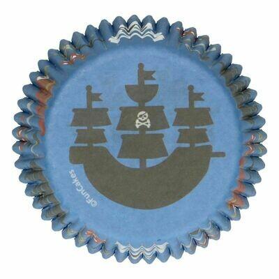 FunCakes Cupcake Cases -PIRATES -Θήκες Ψησίματος 48 τεμ - Πειρατικό θέμα