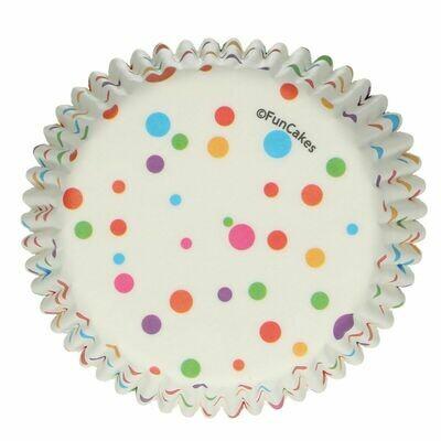 FunCakes Cupcake Cases -CONFETTI -Θήκες Ψησίματος 48 τεμ