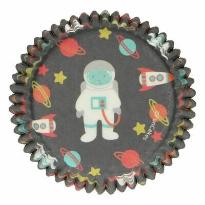 FunCakes Cupcake Cases -SPACE   -Θήκες Ψησίματος 48 τεμ