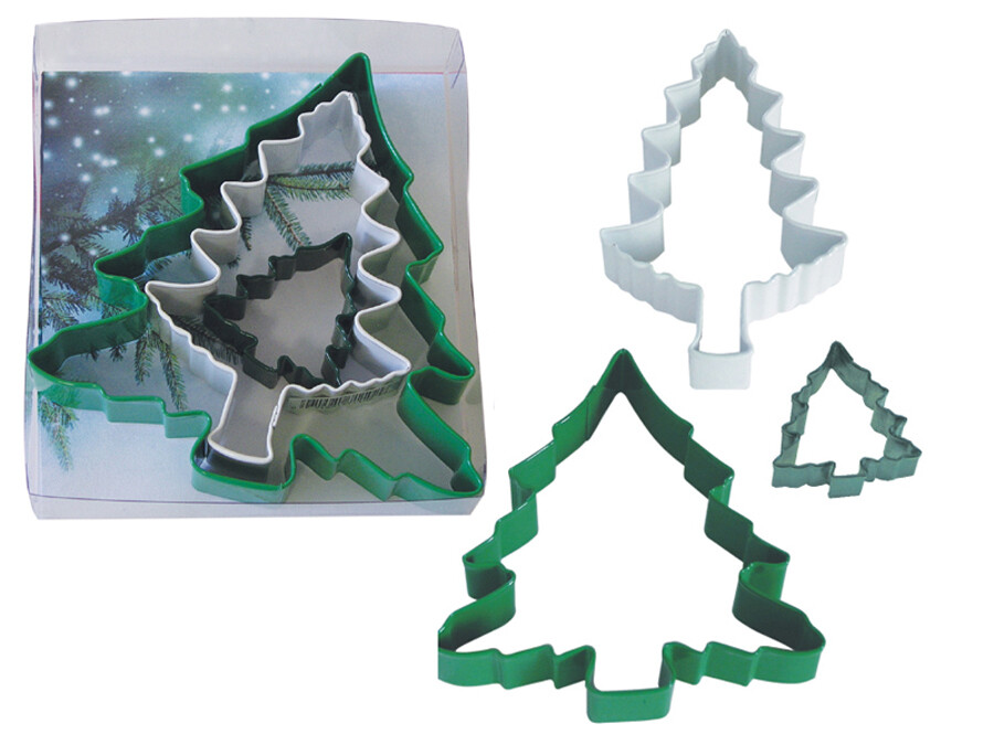 By AH -Set of 3 Cookie Cutters -CHRISTMAS TREES -Σετ 3 Κουπάτ Χριστουγεννιάτικο Δέντρο