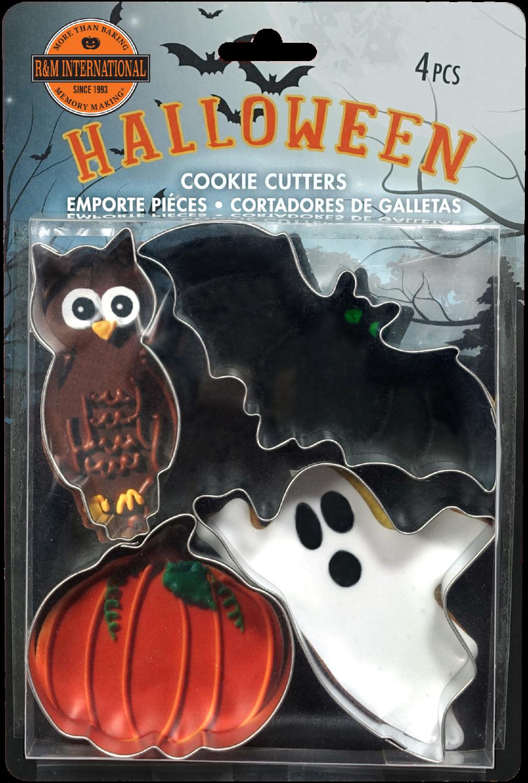 By AH -Set of 4 Cookie Cutters -SPOOKY HALLOWEEN -Σετ 4 Κουπάτ Φρικιαστικά Κουπάτ