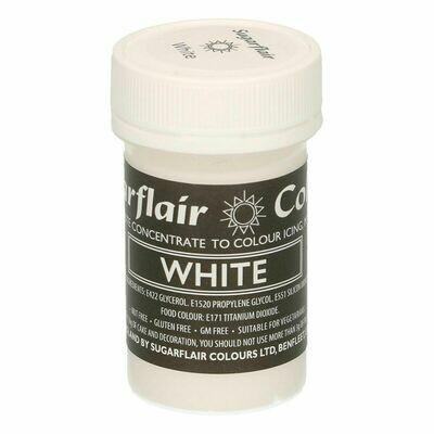 Sugarflair Paste Colours -PASTEL WHITE -Χρώμα Πάστα -Άσπρο