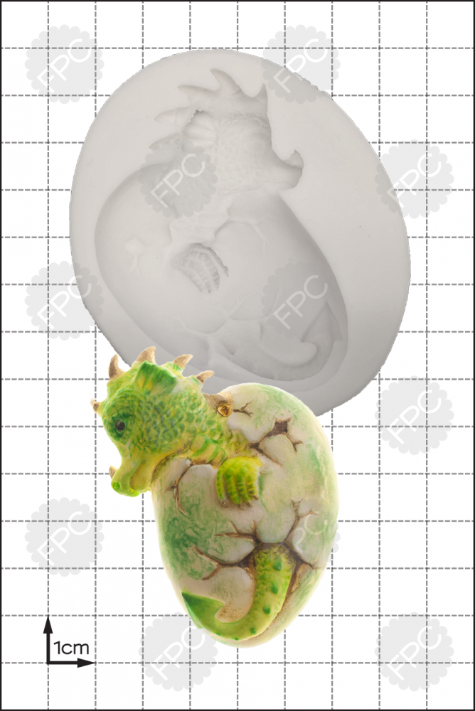 By FPC -Silicone Mould -HATCHING DRAGON -Καλούπι - Εκκολαπτόμενο δρακάκι