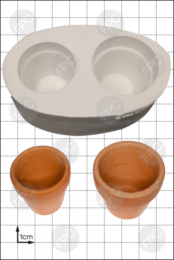 FPC Silicone Mould -3D Flower Pots -Καλούπι '3D Γλάστρες για λουλούδια'