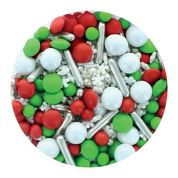 Purple Cupcakes Sprinkle Mix -ELF MIX -100γρ Ανάμεικτα Κονφετί/Πέρλες - Χειμερινό θέμα