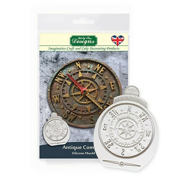 Katy Sue Silicone Mould -ANTIQUE COMPASS -Καλούπι Πυξίδα