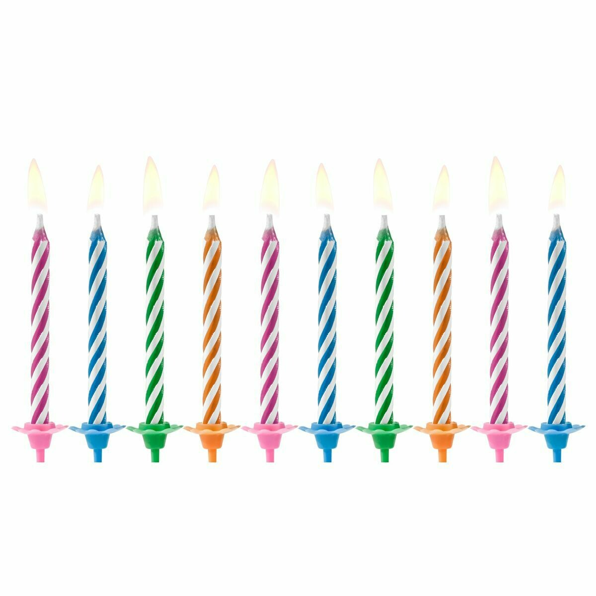 PartyDeco Birthday Candles -MAGIC MIX 10 τεμ.
