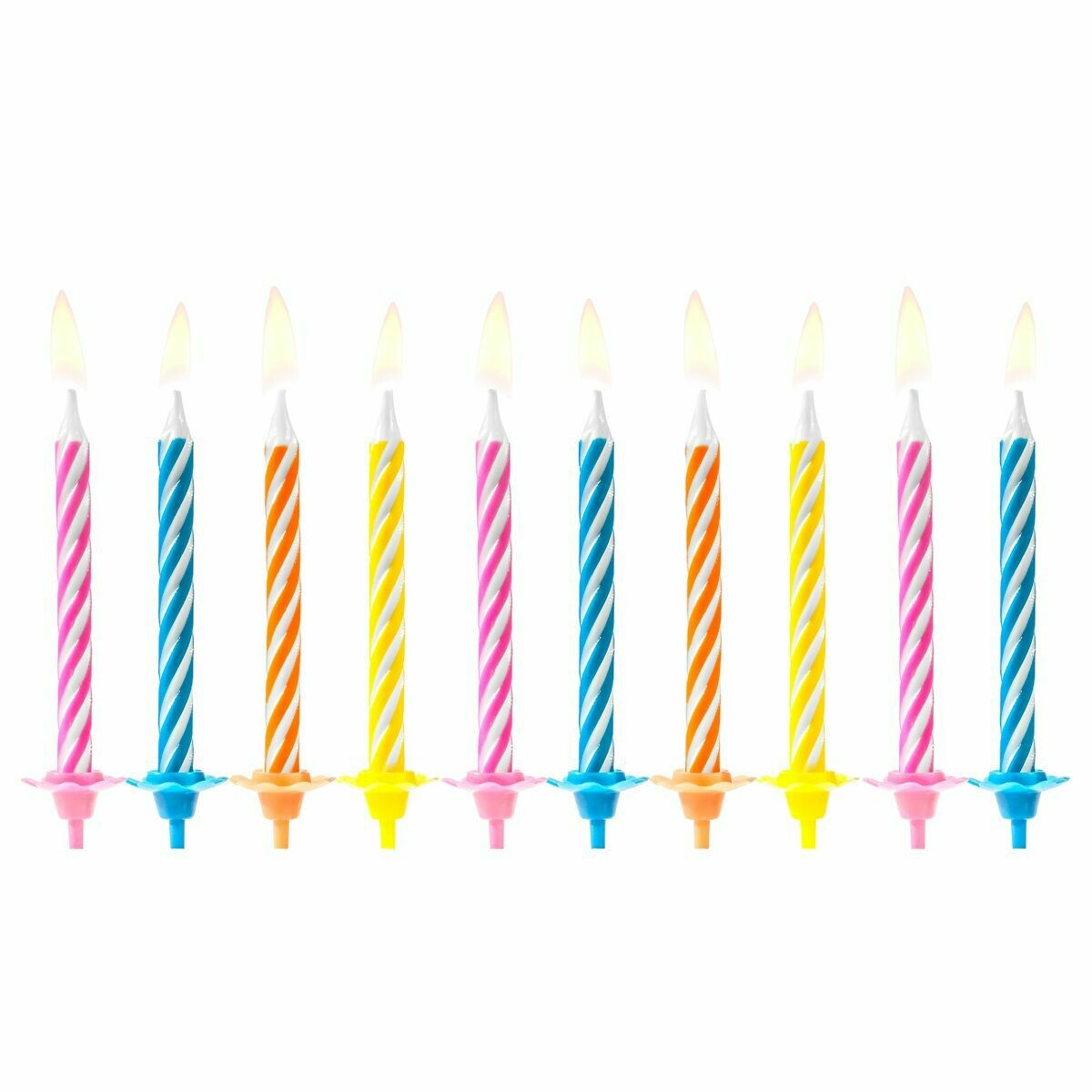 PartyDeco Birthday Candles -PARTY MIX 10 τεμ.