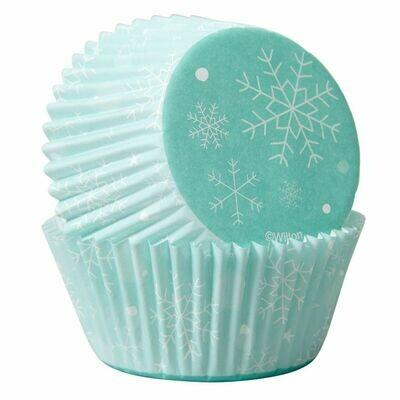 Wilton Christmas Cupcake Cases -FROZEN SNOWFLAKES -Θήκες ψησίματος με χιονονιφάδες 75 τεμ