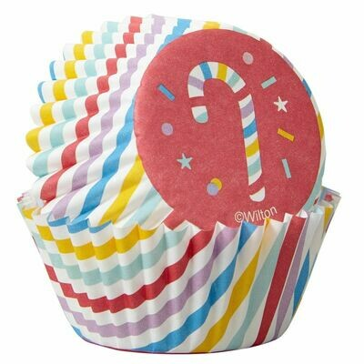 Wilton Christmas Cupcake Cases -MINI -CANDY CANES -μίνι θήκες ψησίματος 100τμχ
