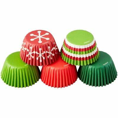 Wilton Christmas Cupcake Cases -MINI -CHRISTMAS MIX -μίνι θήκες ψησίματος 150τμχ