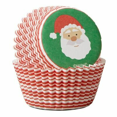 Wilton Christmas Cupcake Cases -MINI -SANTA CLAUS -μίνι θήκες ψησίματος 100τμχ