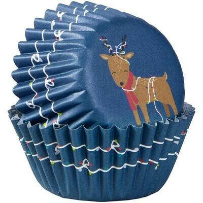 Wilton Christmas Cupcake Cases -MINI -REINDEER -μίνι θήκες ψησίματος 100τμχ
