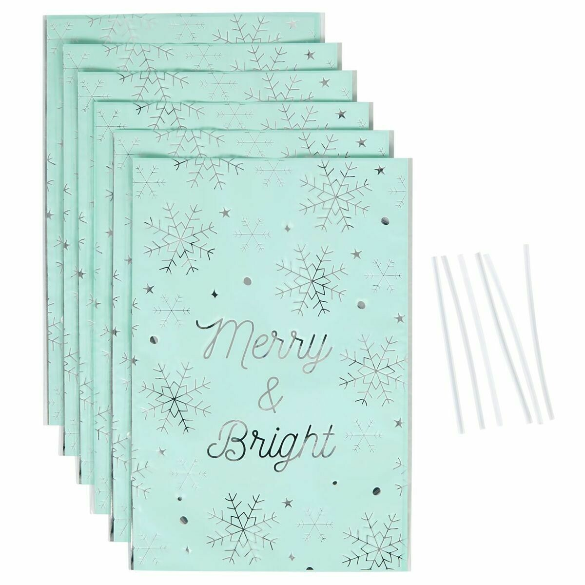 Wilton Christmas Treat Bags -MERRY & BRIGHT -Pack of 6