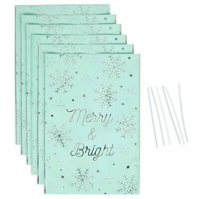Wilton Treat Bags -MERRY & BRIGHT -Pack of 6