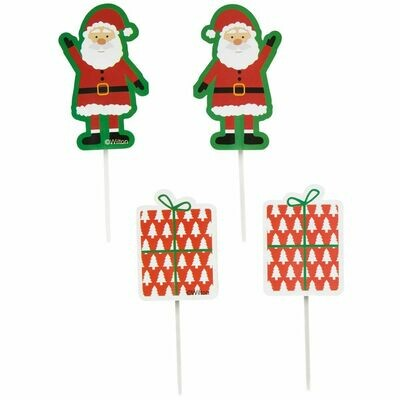 Wilton Treat Picks Santa Claus -12τεμ