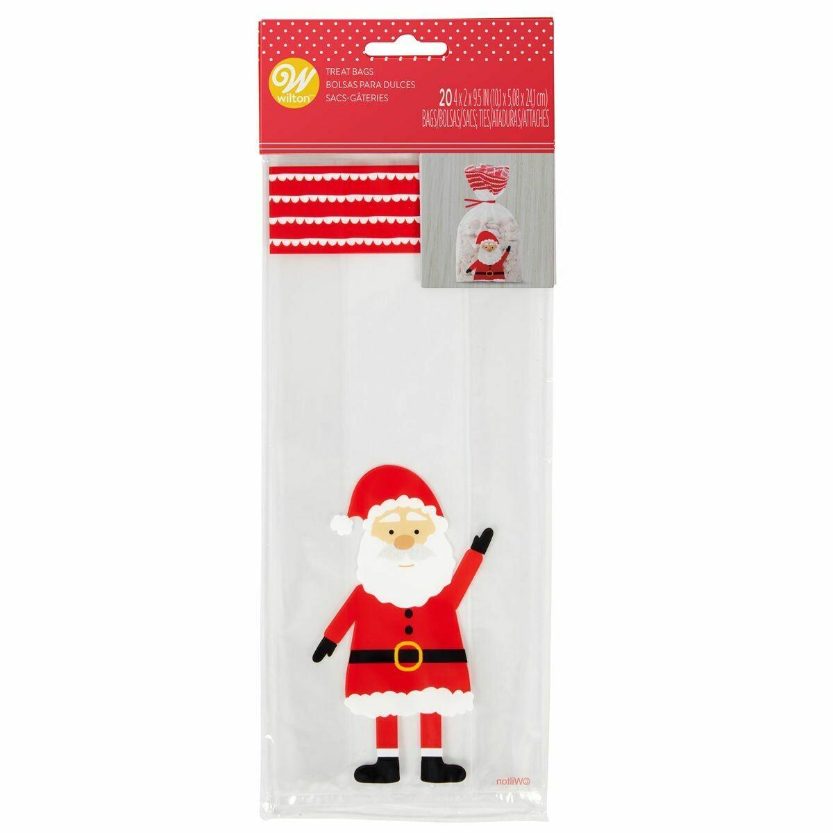Wilton Christmas Treat Bags -SANTA CLAUS -Pack of 20