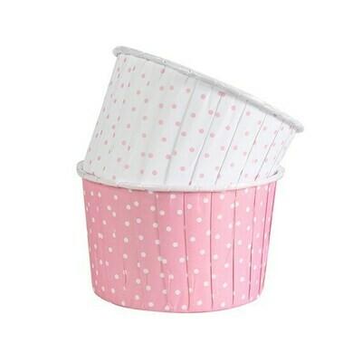 Culpitt Cupcake Baking Cups -PINK & WHITE POLKA DOT - Κυπελάκια Ψησίματος -Ροζ & Λευκό Πουά 24 τεμ