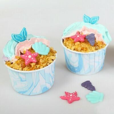 Culpitt Cupcake Baking Cups -MARBLE BLUE & WHITE -Κυπελάκια Ψησίματος Εφέ Μάρμαρο Μπλε & Λευκό 24 τεμ