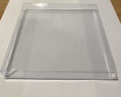 CLEAR BOX for COOKIES  -Τετράγωνο Κουτί για μπισκότα 19x19x2εκ