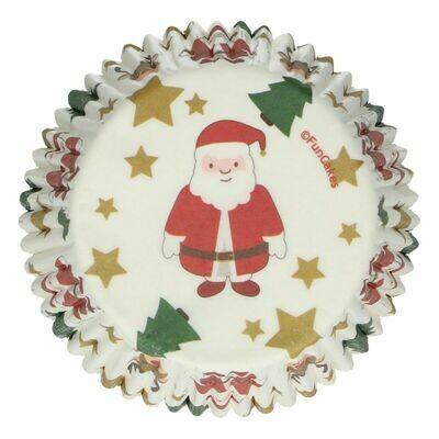 FunCakes Cupcake Cases -CHRISTMAS -SANTA -Θήκες Ψησίματος 48 τεμ