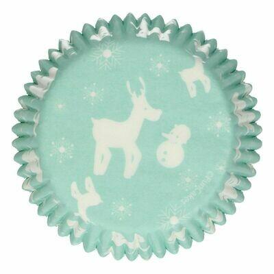 FunCakes Cupcake Cases -WINTER WONDERLAND -Θήκες Ψησίματος 48 τεμ