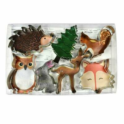 By AH -Set of 7 Cookie Cutters -WOODLAND ANIMALS -Σετ  Κουπάτ -Ζώα του Δάσους