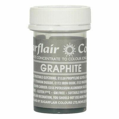 Sugarflair Paste Colours -GRAPHITE -Χρώμα Πάστα Γραφίτης
