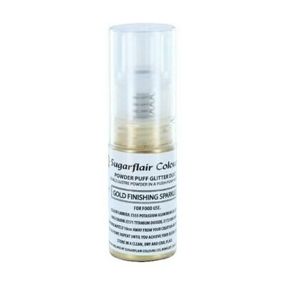 Sugarflair Powder Puff Glitter Dust Pump Spray -FINISHING SPARKLE -GOLD 10g Βρώσιμο γκλίτερ σε αντλία