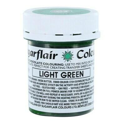 Sugarflair Chocolate Colour -LIGHT GREEN 35g - Χρώμα σοκολάτας -Ανοιχτό πράσινο