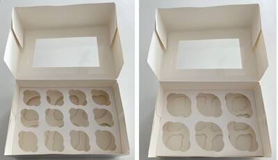 Box for 6 Cupcakes or 12 Mini Cupcakes -Κουτί για 6 Καπκέϊκς ή 12 μίνι Καπκέϊκς
