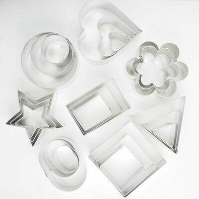 Cookie Cutters -Set of Geometric Shapes 24pcs -Κουπάτ Γεωμετρικά Σχέδια 24τεμ