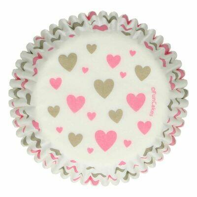 FunCakes Cupcake Cases -HEARTS -Θήκες Ψησίματος 48 τεμ