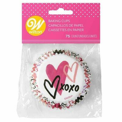 Wilton Valentine Cupcake Cases -TRADITIONAL -Θήκες ψησίματος 75 τεμ