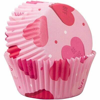 Wilton Valentine Cupcake Cases -HEARTS -Θήκες ψησίματος 75 τεμ
