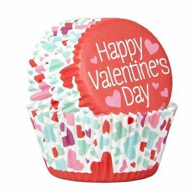 Wilton Valentine Cupcake Cases -'COMBO PACK'  -Θήκες ψησίματος 24 τεμ