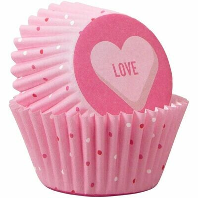 Wilton Valentine Cupcake Cases -MINI 'LOVE'  -Θήκες ψησίματος 100 τεμ
