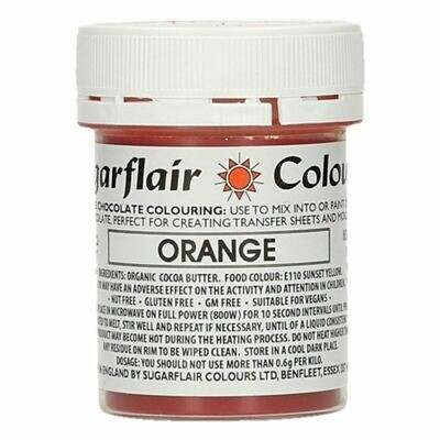 Sugarflair Chocolate Colour -ORANGE 35g - Χρώμα σοκολάτας -Πορτοκαλί