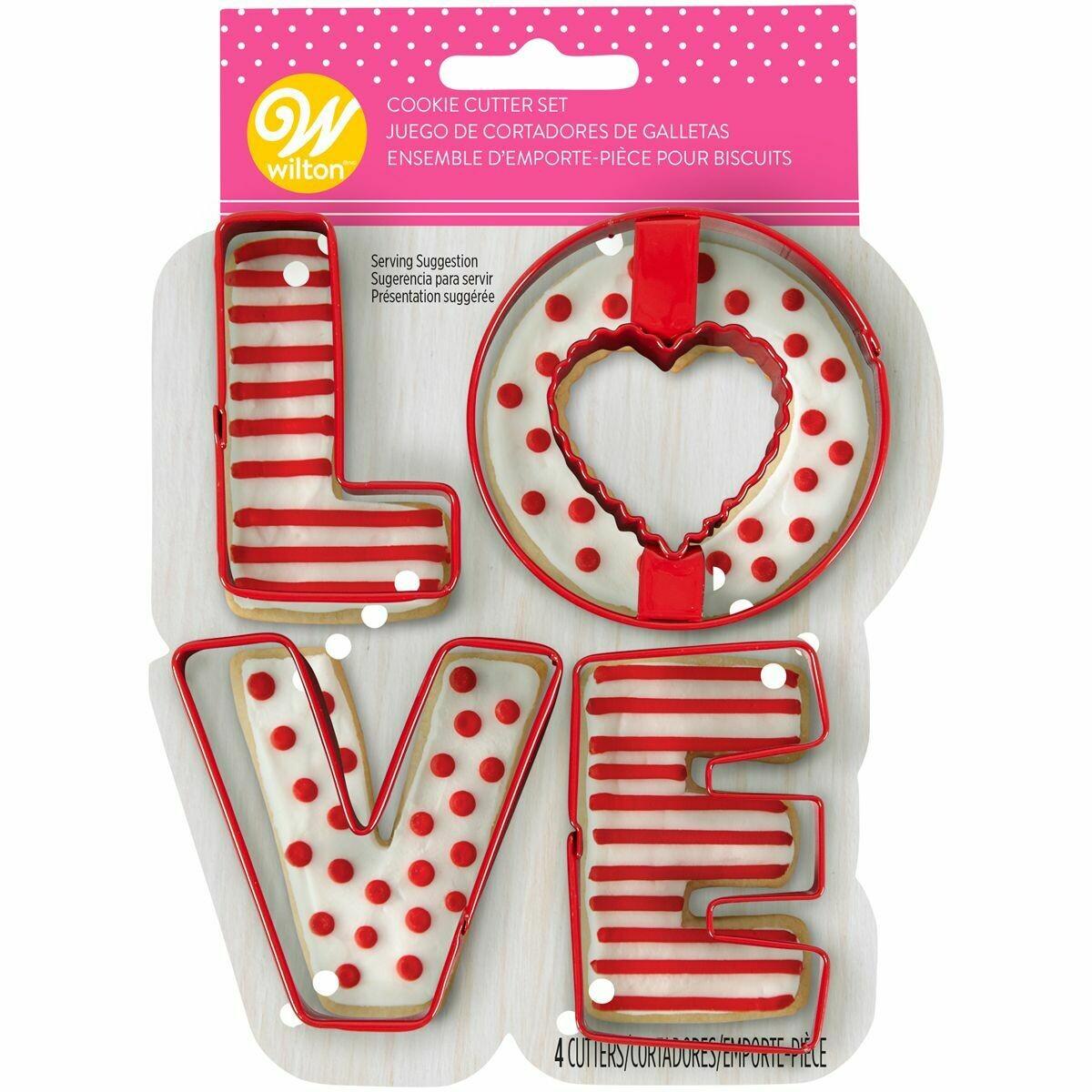 Wilton Cookie Cutter Set of 4 -'LOVE'  -Σετ 4 Κουπάτ