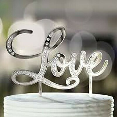 SALE!!! Cake Topper -'Love'